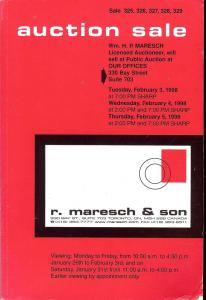 R. Maresh & Son Auction Sale 325-329 featuring Canada, Br...