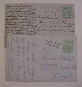 HUNGARY  COSTUME 1916,1919 on CARDS