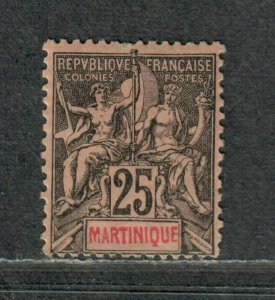Martinique Sc#43 M/H/F-VF, Cv. $24