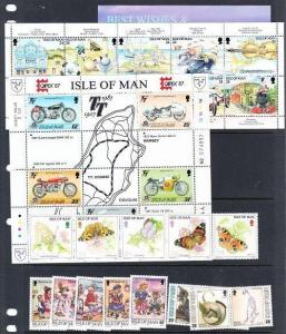 Isle of Man - small collection of Mint NH sets (CV 27.65)