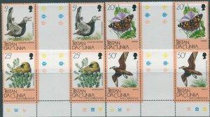 Tristan Da Cunha 1986 SG417-421 Flora and Fauna (4) gutter pairs MNH