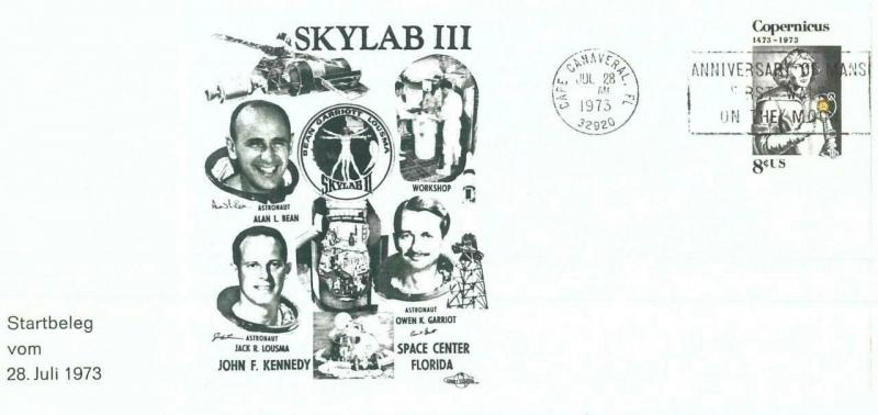 73885 - USA - Postal History - SPECIAL Cover 1973 - SPACE Astro SKYLAB  III