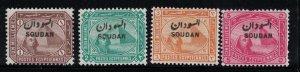 Sudan # 1-4  1897   MH    SCV $ 10.25