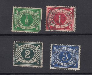 Ireland 1925 Postage Due Collection SGD1/D4 Fine Used JK2421