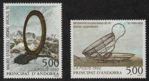Andorra-French - 1992 - SC 421-22 - LH