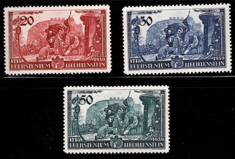 LIECHTENSTEIN Scott 154-156 MH* stamp set 1939