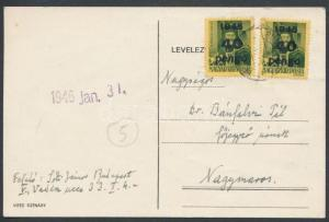 Hungary stamp Inflation cover Cover 1945 Inflation of the Pengõ WS227308
