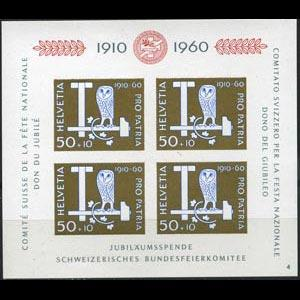 SWITZERLAND 1960 - Scott# B297 S/S Mining LH