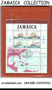 COLLECTION OF JAMAICA STAMPS FROM CLASSIC TO NEW IN SMALL STOCK BOOK