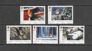 BIRDS - ISLE OF MAN #1069-73   MNH