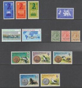 Falkland Islands Sc 143/MR3 MLH. 1918-1978 issues, 5 complete sets, VF