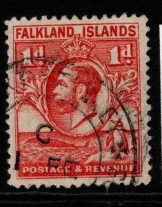 FALKLAND ISLANDS SG117 1929 1d SCARLET FINE USED