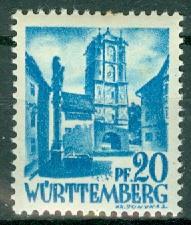 Germany - French Occupation - Wurttemberg - Scott 8N7 (SP)
