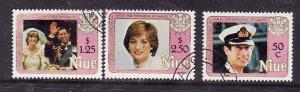 Niue-Sc#354-6- id5-used set-Princess Diuana-21st Birthday-1982-