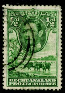 BECHUANALAND SG118, ½d green, FINE USED, CDS.