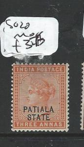 INDIA PATIALA  (PP0404B) QV 3A  SG 20  MOG