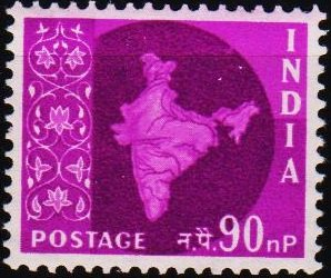 India. 1957 90np S.G.412 Mounted Mint