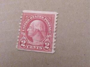 1923, 2¢ carmine washington , perf 10 at bottom (554d)