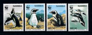 [78344] Namibia 1997 Birds Vögel Oiseaux Penguins WWF  MNH