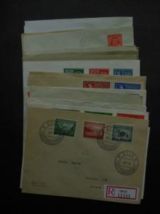 NORWAY : Beautiful collection of 23 all diff. FDC between 1941-1960. Cat 4320 Kr