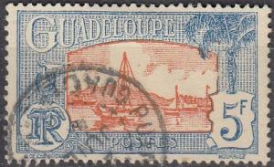 Guadeloupe Scott #135 Used