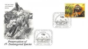 Lot of 21 United Nations MNH Endangered Species Stamps on 12 FDCs #149729* X R