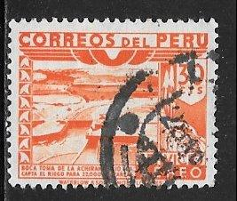 Peru C53, 30c Ica River Dam, used, F-VF