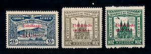 [72793] Paraguay 1937 Cathedral with Red OVP Airmail Set MLH