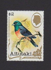 Aitutaki Cook Islands 246B VF MNH $2 Birds