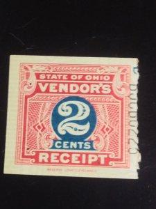 Us State of ohio Vendors receipt