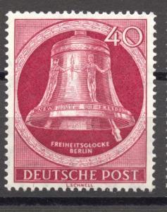 Berlin, 1951, Freedom Bell, 40 Pf. clapper right, MNH, no faults, Mi. # 86