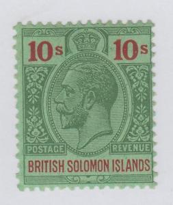 BRITISH SOLOMON ISLANDS 56 MINT HINGED OG * NO FAULTS VERY FINE !