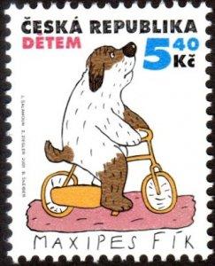 Czech Republic 3146 - Mint-NH - 5.40k Dog on Bike / ICD (2001) (cv $0.60)