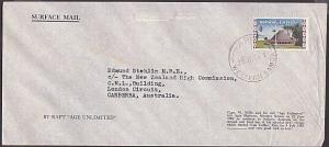 SAMOA 1964 cover carried by Capt Willis by raft 'Age Unlimited' trans pacific