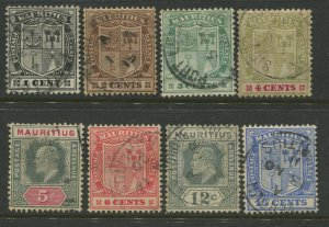 STAMP STATION PERTH Mauritius #137-142,144,145 KEVII Definitive Used  CV$10.00