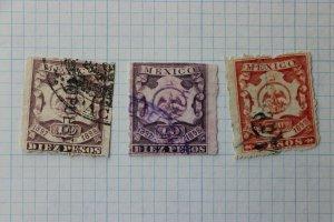 Mexico Revenue R161F 162B color variety used 10p 50p peso