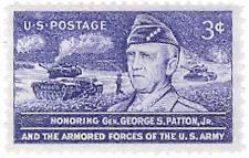 SCOTT # 1026 SINGLE GENERAL PATTON MINT NEVER HINGED GEM !!