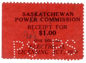 (I.B) Canada Revenue : Saskatchewan Power Commission $1
