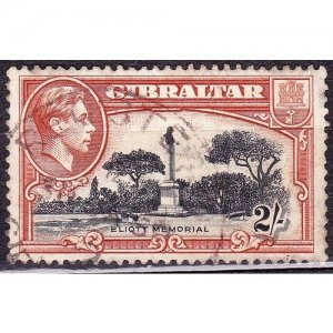 GIBRALTAR 1942 KGVI 2/- Black & Brown SG128b Used