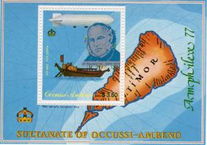 Timor(Ocussi-Ambeno) 1979  Ships/Sir Rowland Hill/Zeppelin/Map S/S Perf.MNH