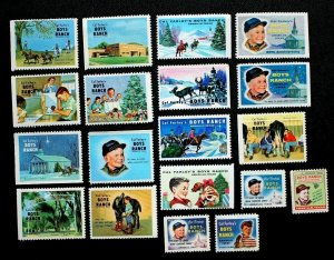 Cal Farley's Boys Ranch Amarillo Texas Stamps Singles 9-Different Years Lot 19