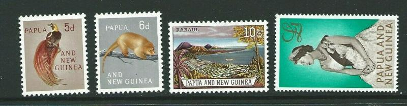 PAPUA NEW GUINEA SG42/5 1963 DEFINITIVES MNH