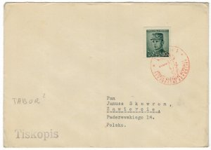 Czechoslovakia 1946 Cover to Poland Cancellation Second World War II Liberation
