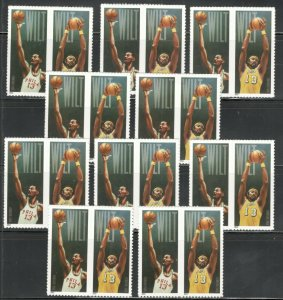 US Postage Stamps 4950-51 Wilt Chamberlain Wholesale Lot 20 Stamps Below Face