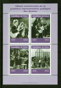 CHAD  2019  50th ANNIVERSARY OF THE BEATLES   SHEET OF FOUR  MINT NH