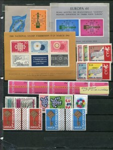 Europa CEPT  Misc.  selection VF NH  - Lakeshore Philatelics