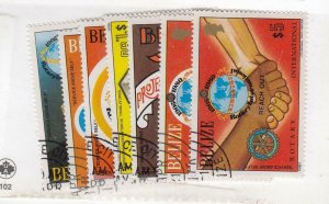 BELIZE (MK6322) # 538-544  VF-USED VARc,$ 1981  INT'L ROTARY CLUB STAMPS CV $52