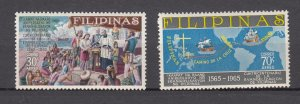 J27828, 1965 philippines set mnh #C91-2 designs