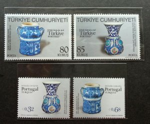 Portugal Turkey Joint Issue 2009 Ceramic Porcelain Art Culture (stamp pair) MNH