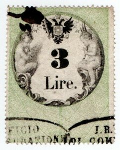 (I.B) Austria/Hungary Revenue : Stempelmarke 3L (Lombardy-Venetia)